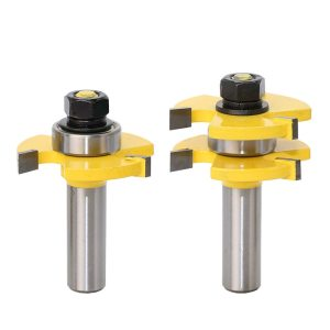 "1/2"" Shank Matched Tongue and Groove Router Bit- 2 pc. Set w/ Set Wood Milling Cutter flooring knife-RCT15216"