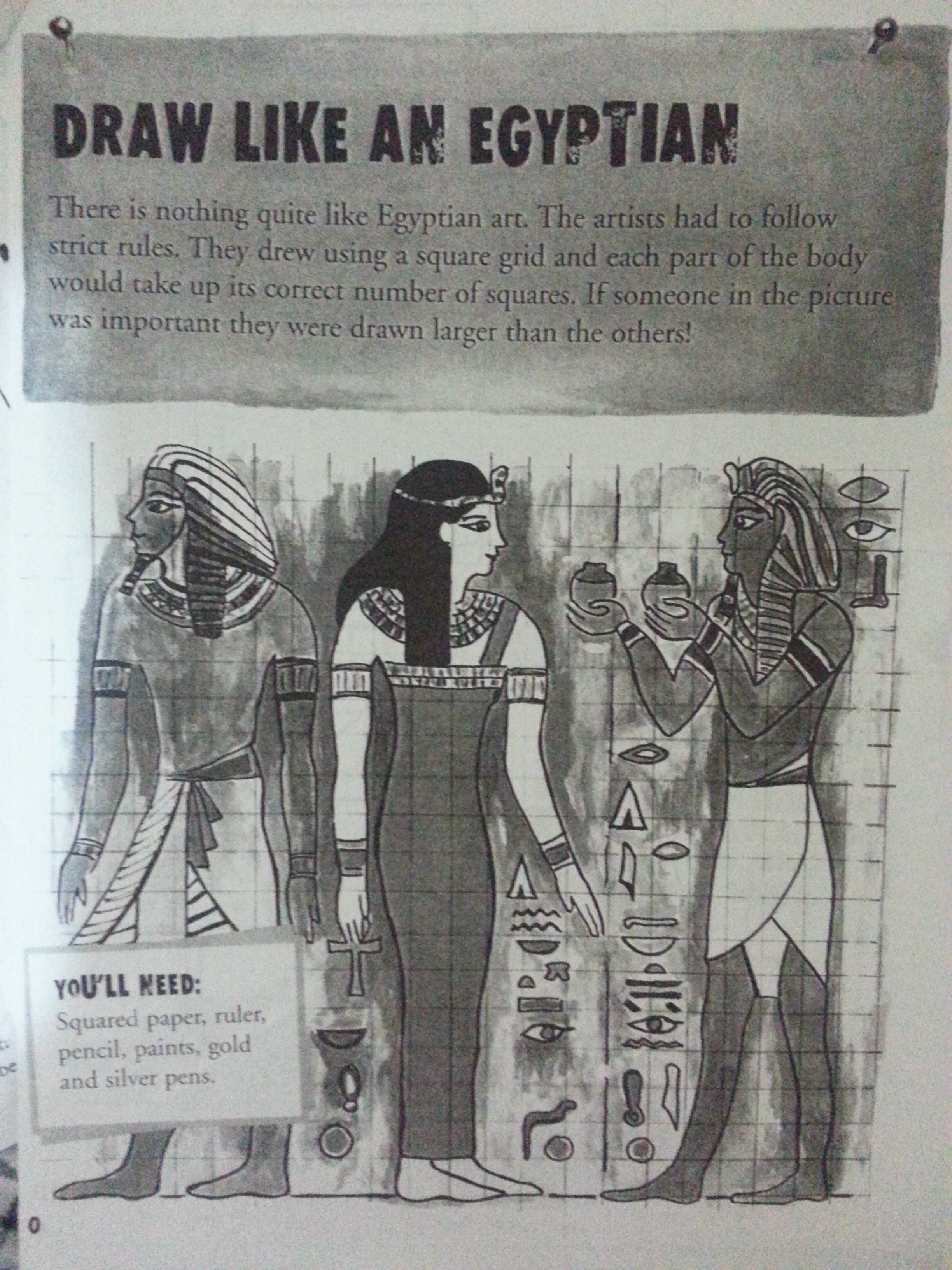 Worksheet Draw Like An Egyptian