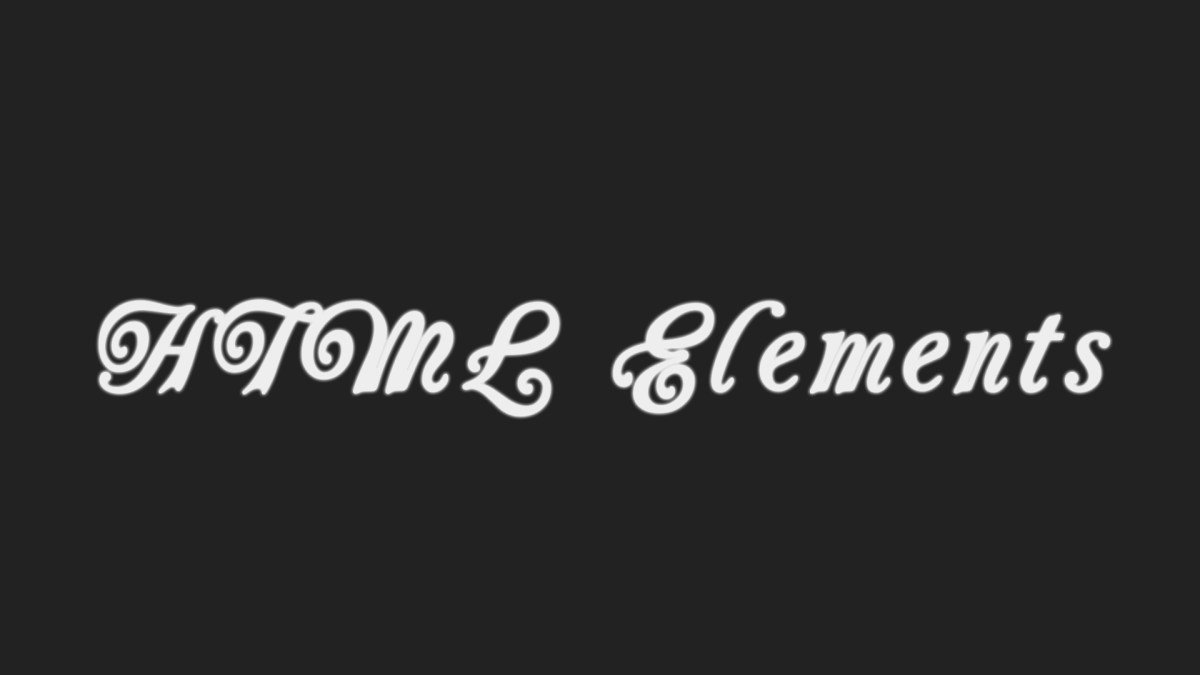 HTML tutorial: Elements