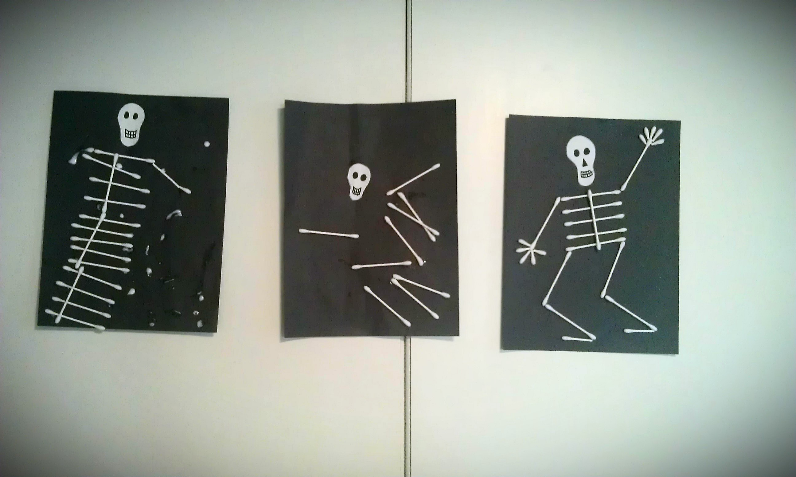 Three Skeletons Craft Project For Halloween
