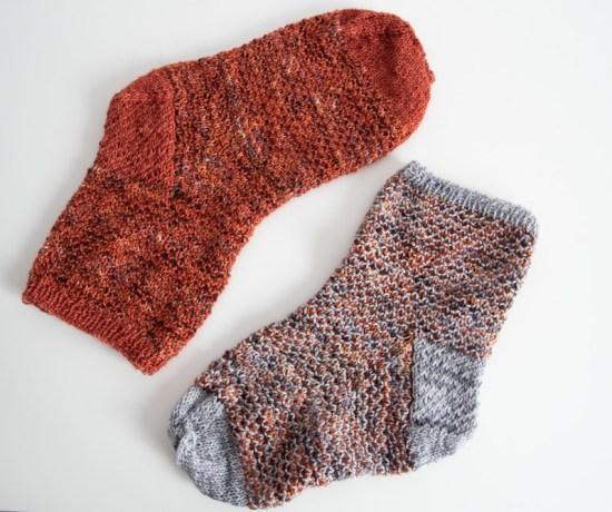 chaussettes 2 couleurs en brokenseed