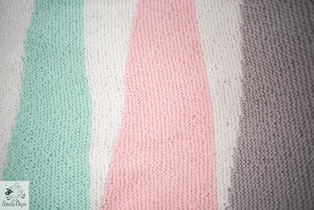 Couverture au tricot