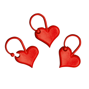 Маркери для в'язання - сердечка Addi