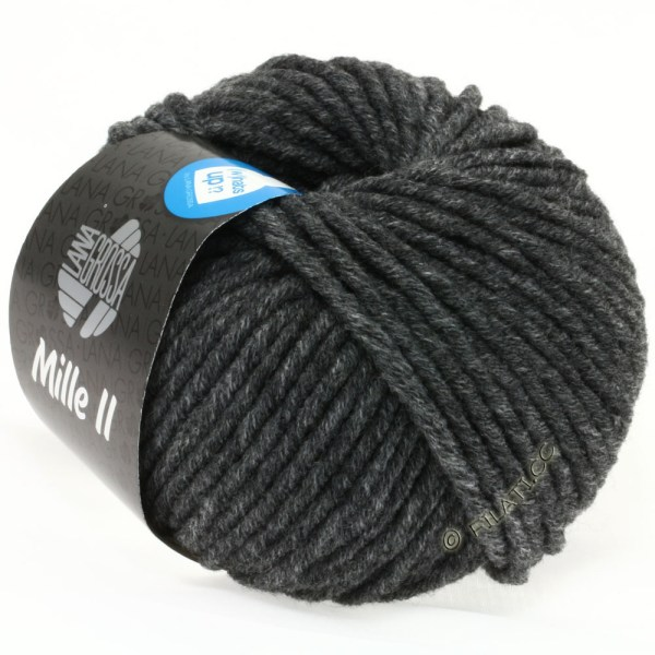 Lana Grossa Mille II 16 темно-сірий