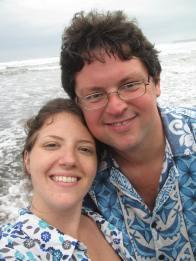 Honeymoon beach selfie.