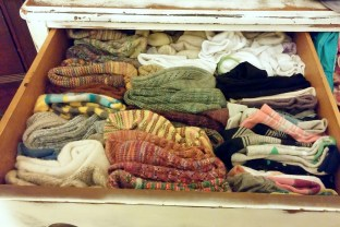 The prettiest sock drawer in all the land.