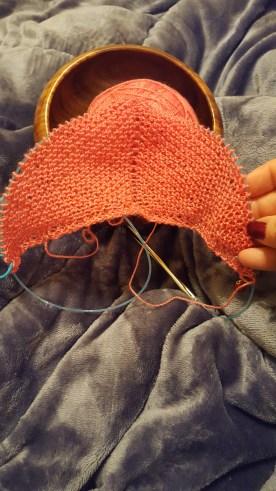 Beginning of shawl