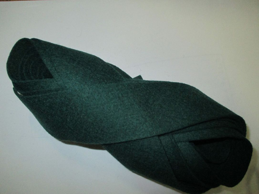 Dark Green felt binding