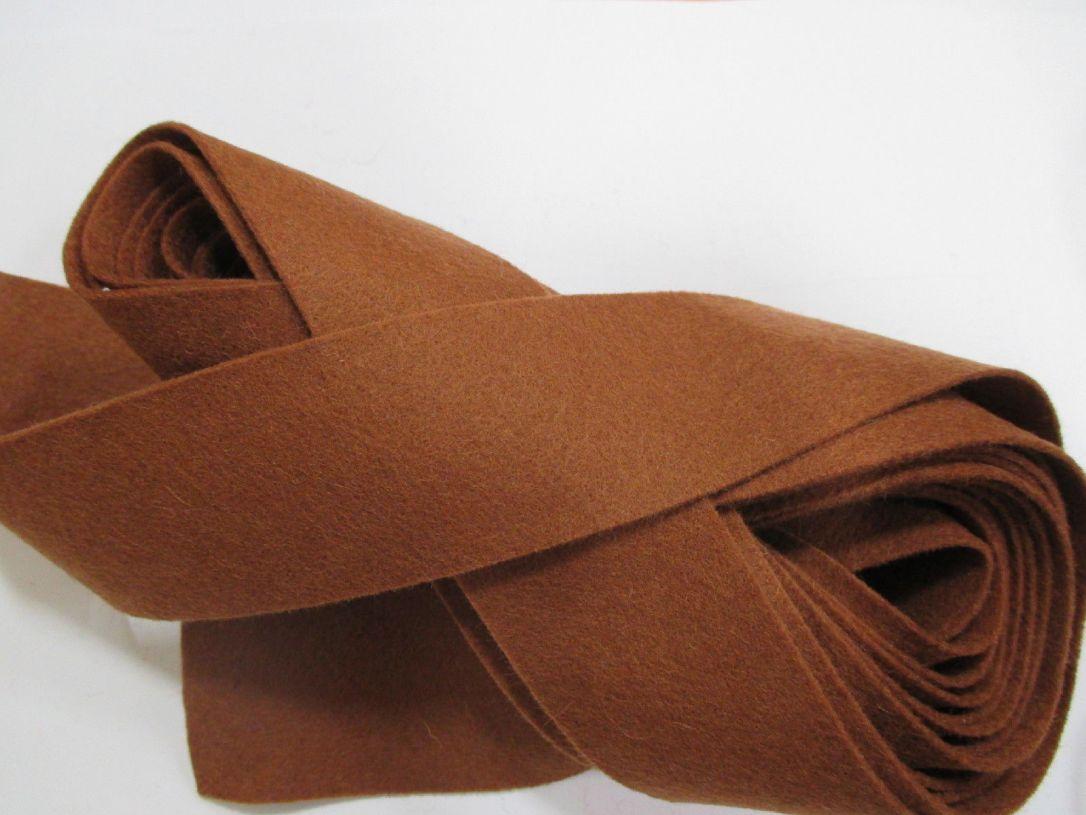 Lighter Brown felt binding