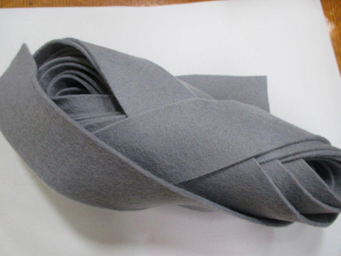 Grey felt binding
