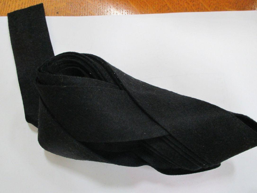 Black felt binding