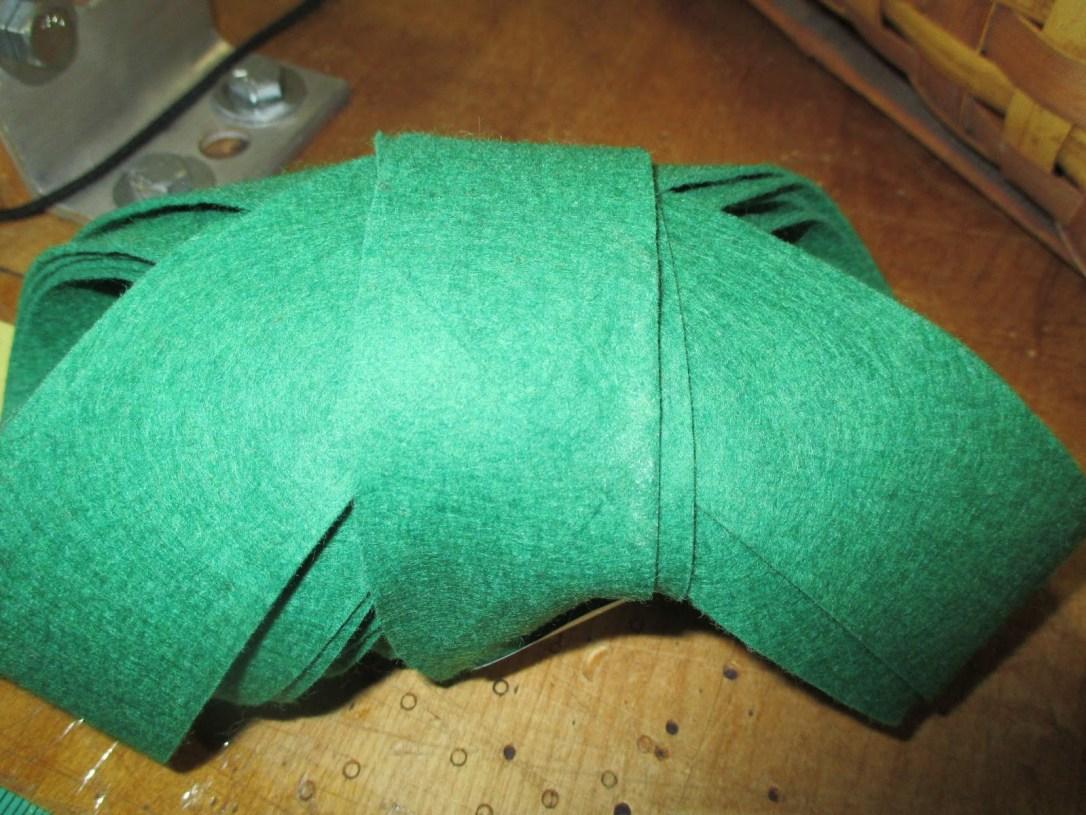 Green felt binding