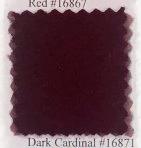 Pendleton melton wool in dark cardinal.
