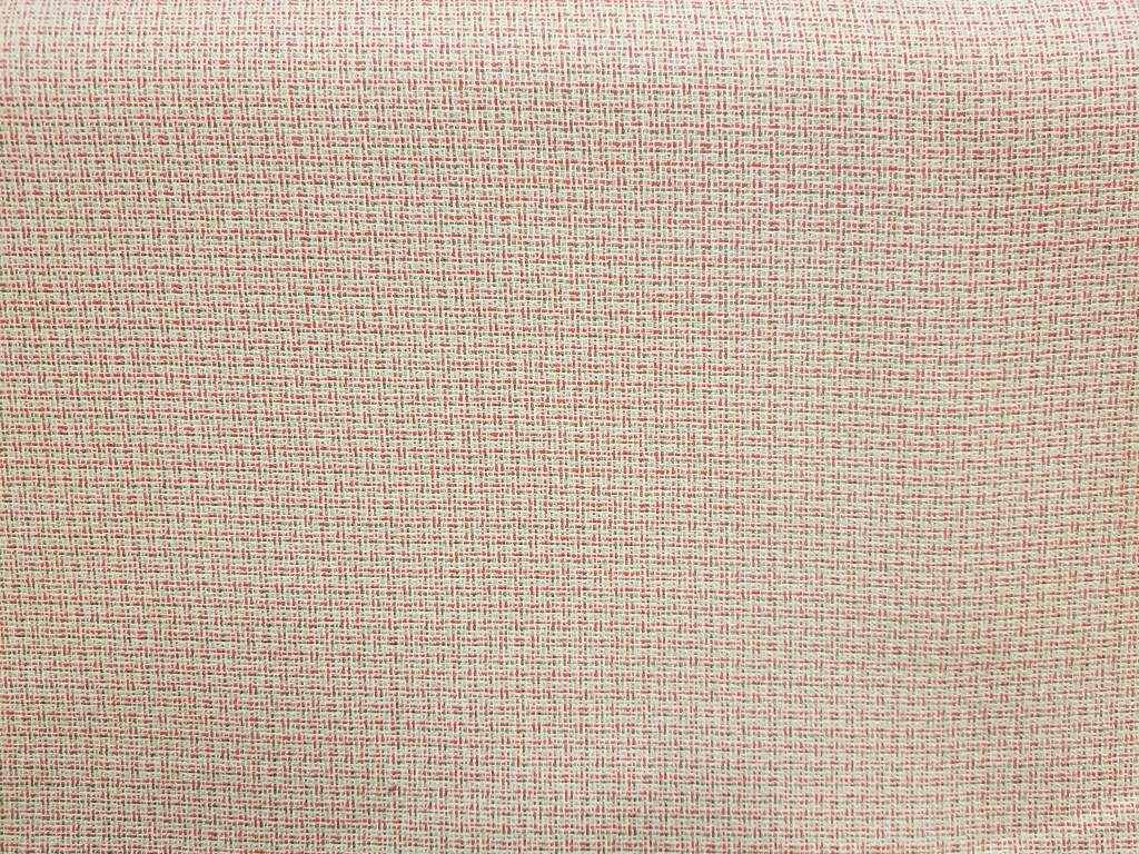 Wool/Rayon blend fabric in a poppy/beige weave