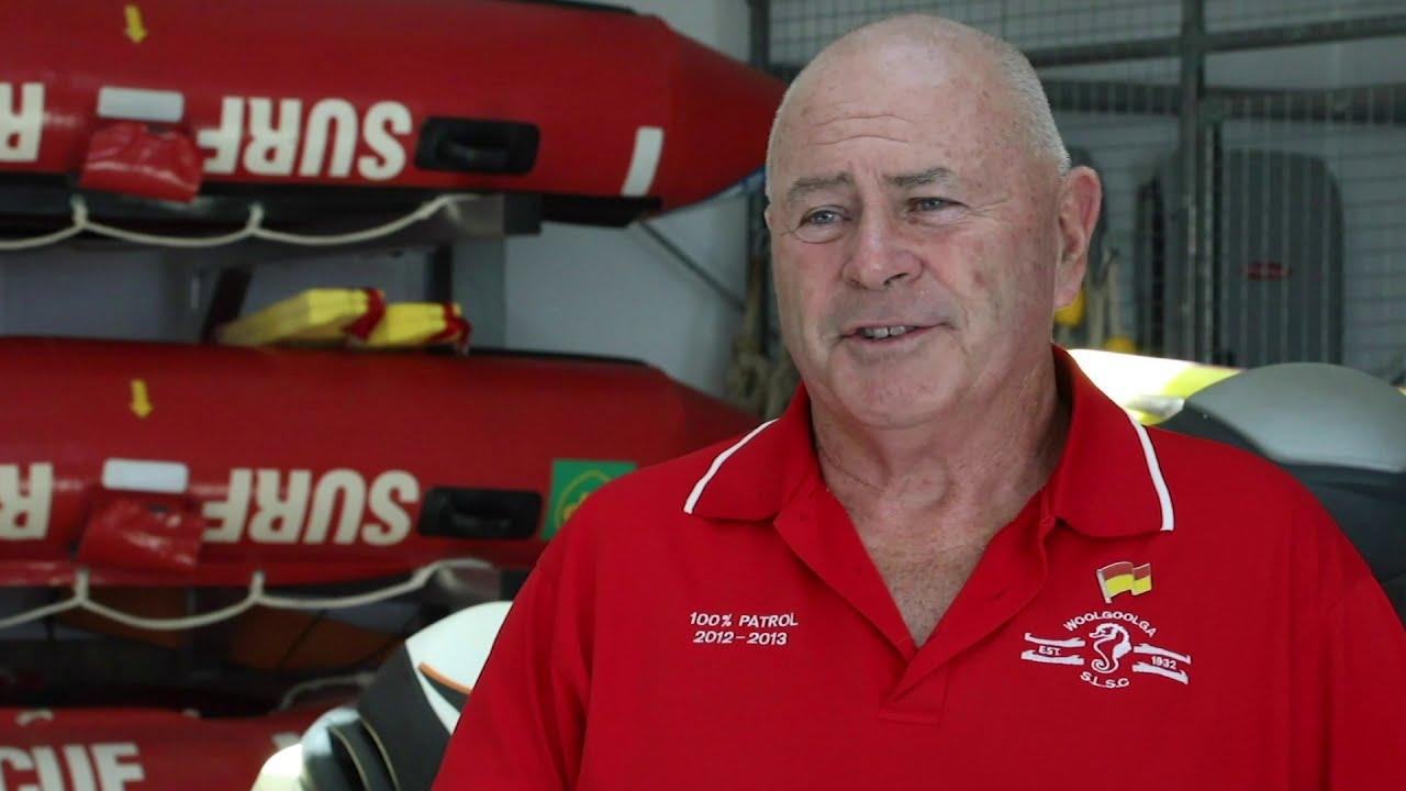 Woolgoolga Surf Life Saving Club President, Les Pepper