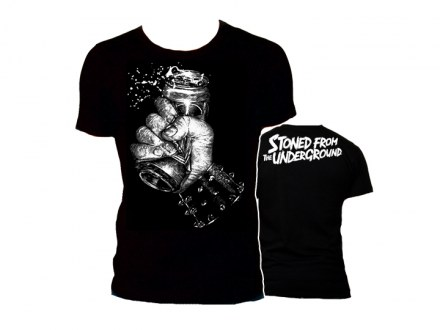 "Stoned from the Underground T-Shirt ""ElvisDead Design"" Girl"