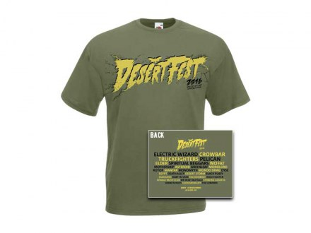 "Desertfest Berlin 2016 T-Shirt ""light khaki"" Man"