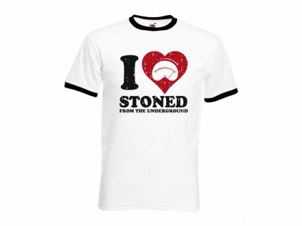 "Stoned from the Underground T-Shirt ""I Love Stoned"" Unisex"
