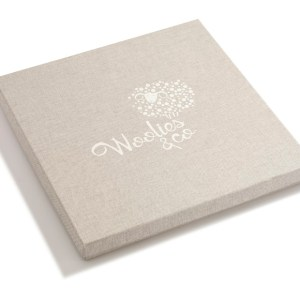 Pudełko z logo obłożone materiałem niskie 001 | 201-SMALL-BOX | www.wooliesandco.pl | shop online