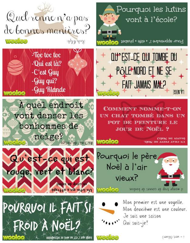 Étiquettes surprises de Noël / wooloo