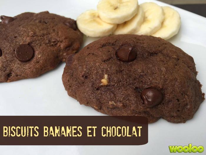 Biscuits bananes et chocolat