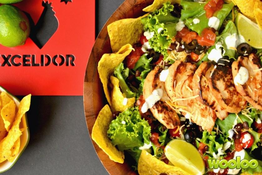 Salade Nachos au poulet BBQ Wooloo