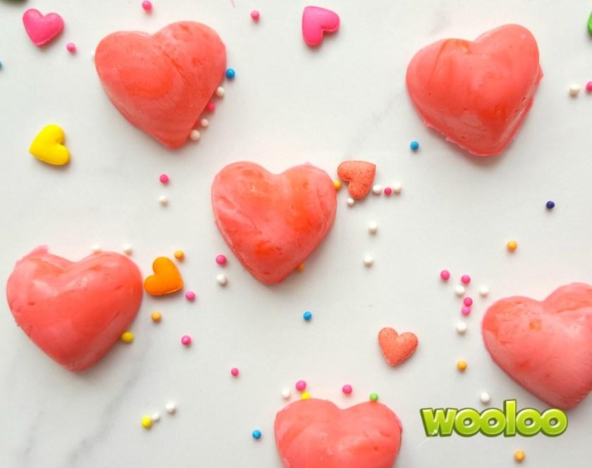 Coeurs en fudge rose Wooloo