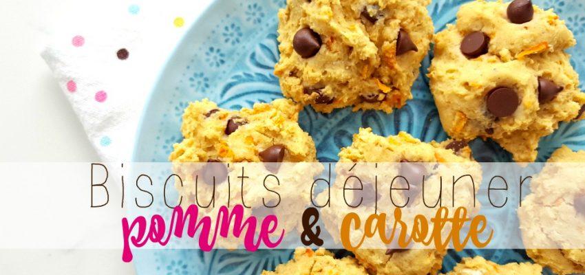 Biscuits déjeuner pomme & carotte