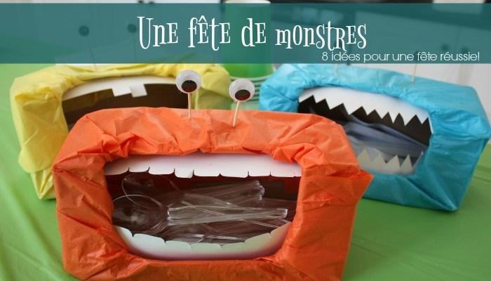 fête de monstre pour enfant