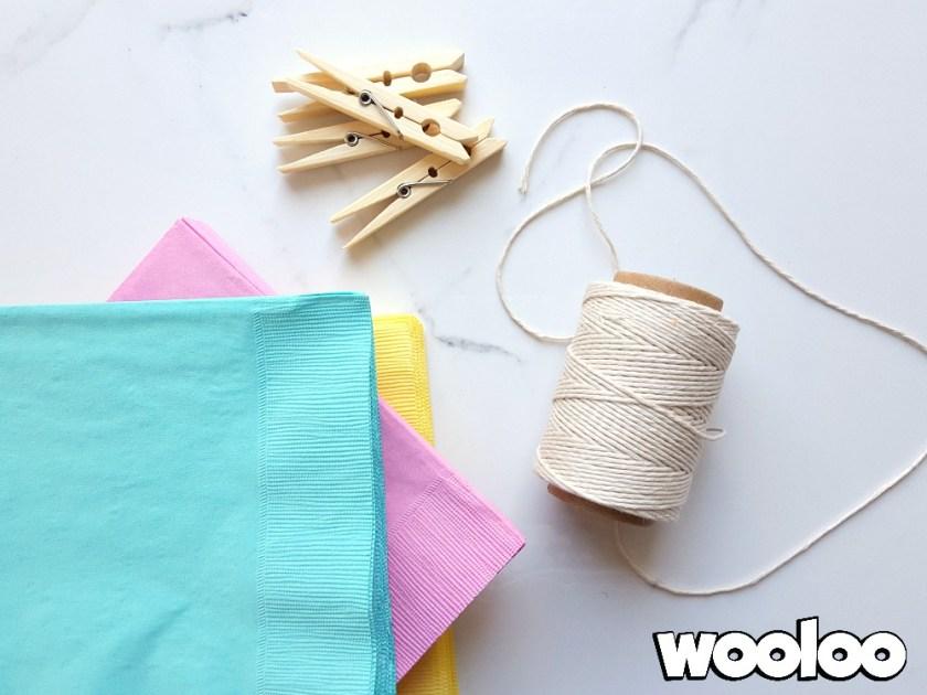serviettes de papier en forme de lapin wooloo