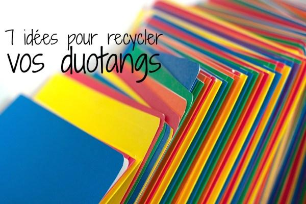7 façons de recycler vos duotangs