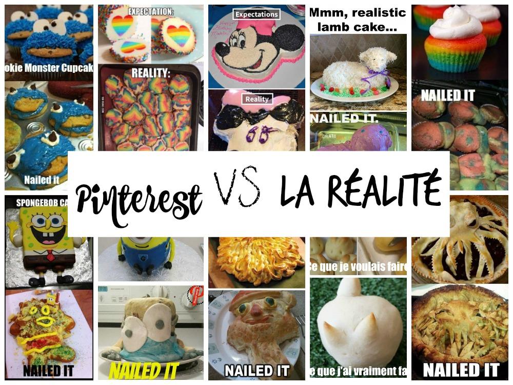 Pinterest VS la réalité