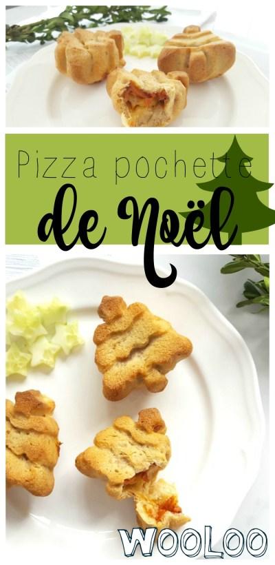 Pizza pochette de Noël / wooloo