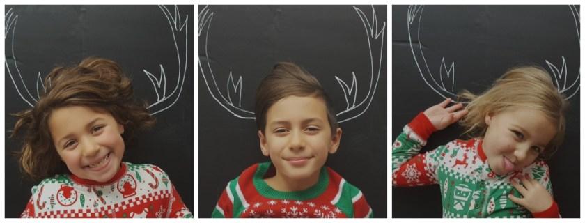 Photos de Noël originales avec des craies / wooloo