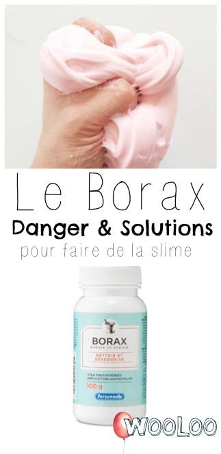 Slime, Borax, danger et solutions wooloo