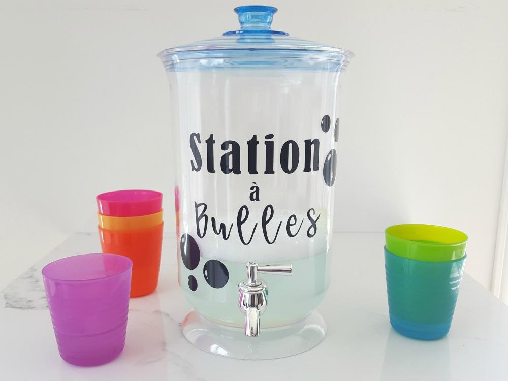 Faire une station à bulles!
