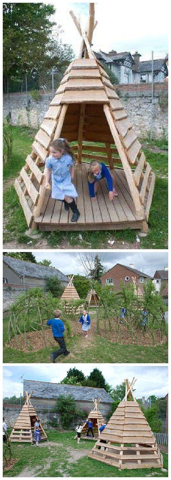créer un terrain de jeux dans ta cours wooloo