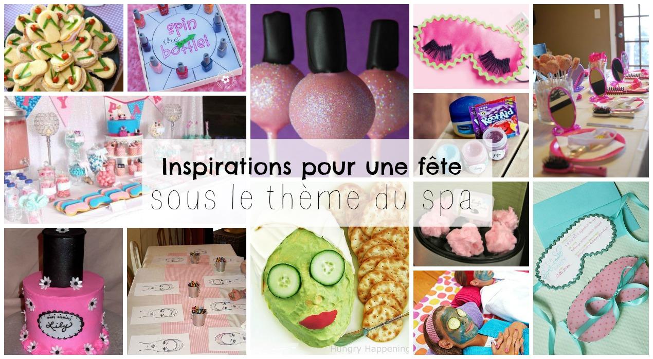 Inspirations pour une fête d'enfant sous le thème du Spa