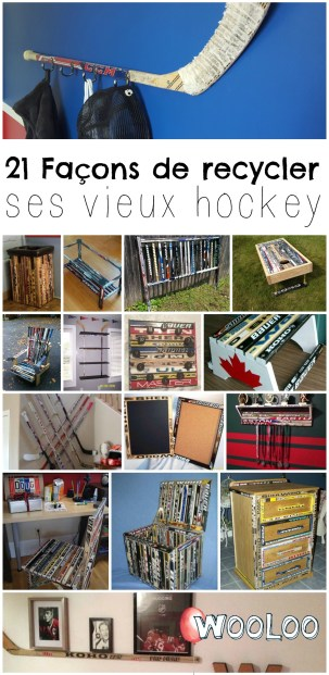 recycler les vieux bâtons de hockey wooloo