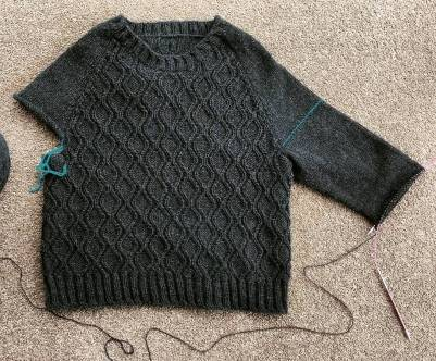 """Improvised"" top-down sweater"