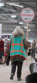 crocheted high-viz jacket