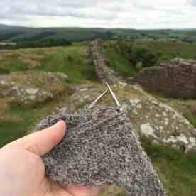 knitting at Hadrian's Wall