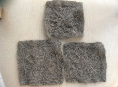 WoollyElly's three stages of cheviot washed and bloked