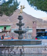 Almost all town squares will have a fountain.