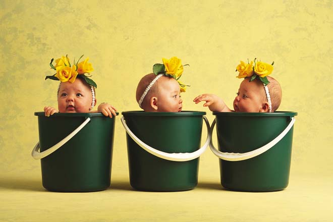 anne geddes babies6 Babies Come as Three Angels by Anne Geddes