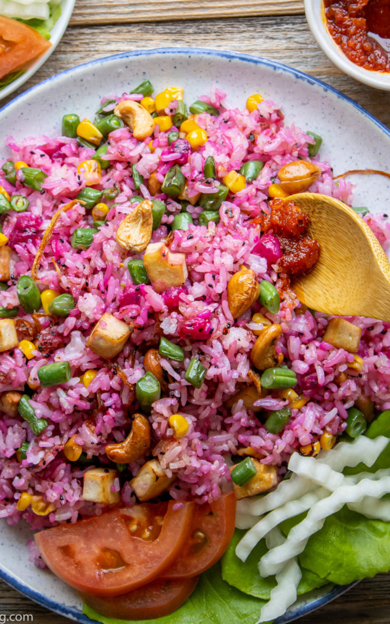 How to Make an Easy Vegan Dragonfruit Fried Rice