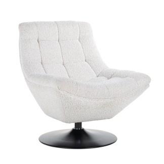 Draaifauteuil  Richelle  white (Copenhagen 900 Bouclé White)