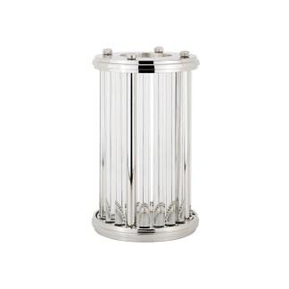 Windlicht Emeray zilver medium (Zilver)