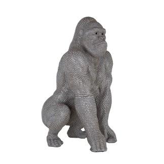 Gorilla deco object (Zilver)