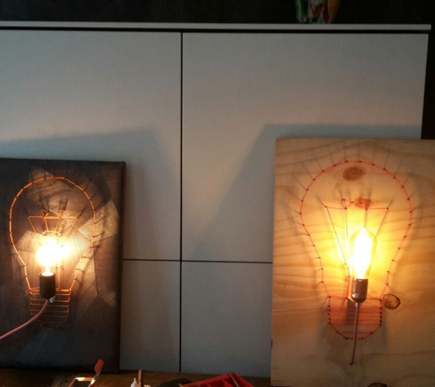 DIY lamp maken